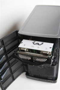 Installed in a server