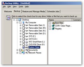 Backup Utility System State