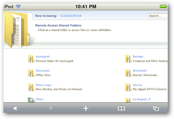 iPhone WHS Access